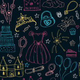 Fairy Tale Princess seamless pattern Royalty Free Stock Photography