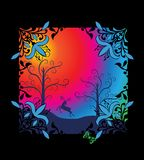 Fairy tale rainbow background Royalty Free Stock Images