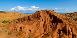 Free Fairy Tale Rainbow Canyon Panorama `Skazka` In Kyrgyzstan Royalty Free Stock Photo - 184375545