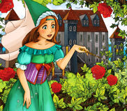 Fairy tale scene for different stories - garden Royalty Free Stock Photo