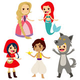 Fairy Tale Set Characters Stock Photos