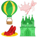 Fairy Tale Set. Fairy Tale Elements Wizard of Oz Royalty Free Stock Photo