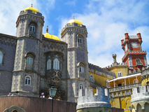 Fairy-tale Sintra palace. Colorful Palace of Sintra,portugal Stock Photography