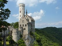 A fairy tale Sloss in Lichtenstein Stock Photos