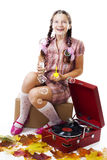 Fairy tale,soap bubbles and gramophone Royalty Free Stock Photography