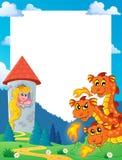 Fairy tale theme frame 5. Eps10 vector illustration Royalty Free Stock Photos
