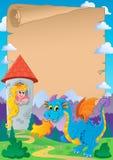 Fairy tale theme parchment 2 Stock Photography