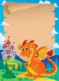 Fairy tale theme parchment 3 Stock Image