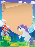 Fairy tale theme parchment 5 Stock Photos