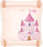 Fairy tale theme parchment. Castle design vector illustration