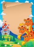 Fairy tale theme parchment 6. Eps10 vector illustration Stock Images