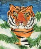 Fairy-tale tiger Stock Photos