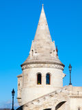 Fairy tale towers of Fisherman`s Bastion on a lookout terrace in Budapest Royalty Free Stock Photo