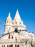 Fairy tale towers of Fisherman`s Bastion on a lookout terrace in Budapest Royalty Free Stock Image