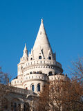 Fairy tale towers of Fisherman`s Bastion on a lookout terrace in Budapest Stock Photography