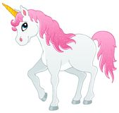 Fairy tale unicorn theme image 1 Stock Images