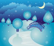 Fairy-tale winter landscape Royalty Free Stock Photo