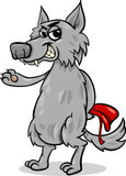 Fairy tale wolf cartoon illustration Royalty Free Stock Photography