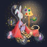 Fairy-tale word royalty free illustration