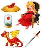 Fairy tales characters in red Royalty Free Stock Photos