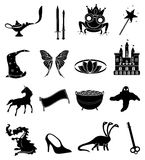 Fairy tales icons set Stock Photo