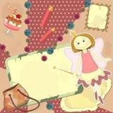 Fairy - tampa para o diário ilustração stock