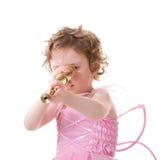 Fairy with telescope Stock Photo