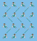 Fairy tooth background. Pattern vector illustration graphic design royalty free illustration