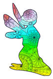Fairy with transition colors. Vector Royalty Free Stock Photos