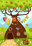Fairy tree. Vector Illustration of a fairy tree Royalty Free Stock Photos