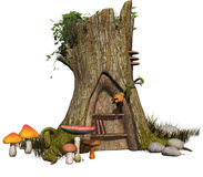 Fairy tree stump Stock Photos