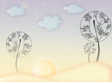 Fairy trees Royalty Free Stock Images