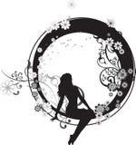 Fairy in un cerchio illustrazione di stock