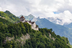 Fairy Vaduz castle, Liechtenstein Royalty Free Stock Images
