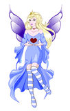Fairy Valentines blue Royalty Free Stock Image