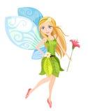 Fairy. Vector cute illustration of a colorful fairy Stock Photos