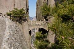 Fairy Walking Bridge, Mt Huangshan Royalty Free Stock Photography