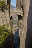 Fairy Walking Bridge, Mt Huangshan Royalty Free Stock Images