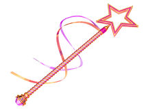 Fairy wand. Isolated illustration of a pink and gold fairy wand Royalty Free Stock Photography
