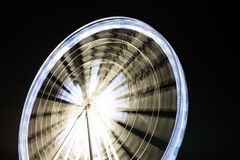 Fairy wheel in an amusement park during night time Royalty Free Stock Photos