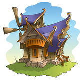 Fairy windmill. With amazing architecture, vector illustration Stock Photography