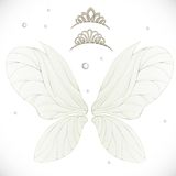Fairy wings with gold tiaras bundled Royalty Free Stock Photography