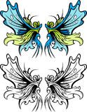Fairy Wings Graphic Set Stock Photography
