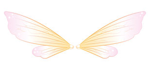 Fairy wings. Illustration of pastel fairy wings Royalty Free Stock Image