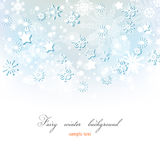 Fairy winter background Stock Photography