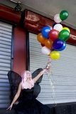 Fairy With Balloons Royalty Free Stock Photos