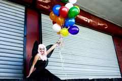 Fairy With Balloons Royalty Free Stock Images