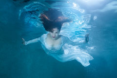 Fairy woman under water. royalty free stock image