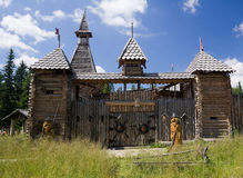 Fairy wooden castle Stock Photos