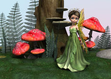Fairy in Woodland Royalty Free Stock Image